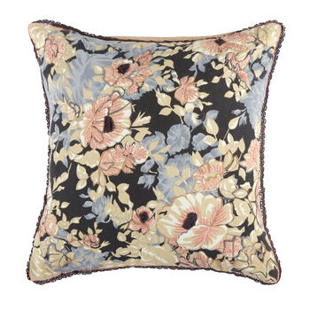 The Grainhouse™ Pink/Blue Floral Square Throw Pillow view 1