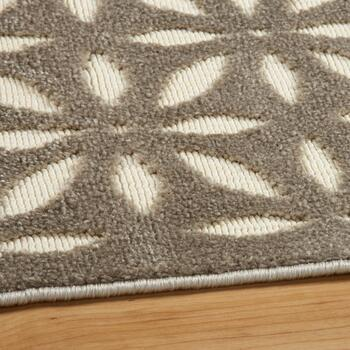 5'x7' Brown Kaleidoscope Reflective Area Rug view 2