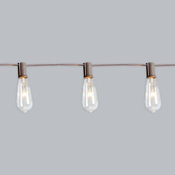 10' Edison-Style Indoor/Outdoor String Lights, Set of 2