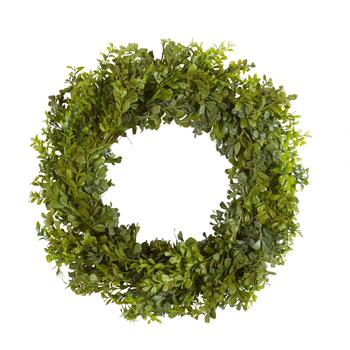"23"" Small Leaves Artificial Twig Wreath"
