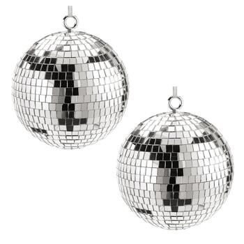 Large Disco Ball Ornaments, Set of 2