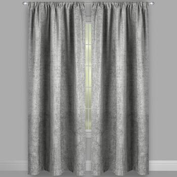 Solid Chenille Rod Pocket Window Curtains, Set of 2 view 2