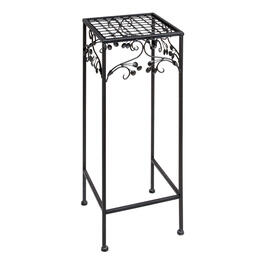Leaf Scroll Square Metal Plant Stand view 1