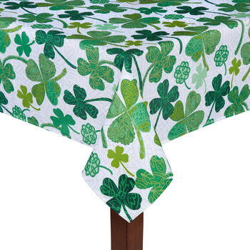 Floral Shamrocks Tablecloth view 1