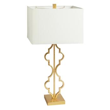 "30"" Gold Moroccan Tile Metal Table Lamp"