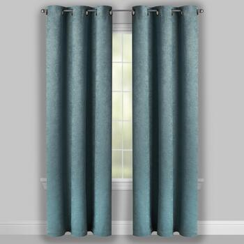 Embosssed Stripe Room-Darkening Window Curtains, Set of 2 view 2