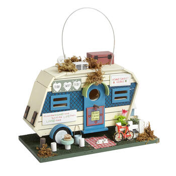 """Home Sweet Home"" Decorative Camper Birdhouse view 1"