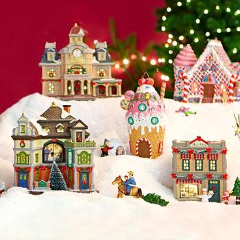 Christmas Houses Village.Christmas Houses Village Architectural Designs