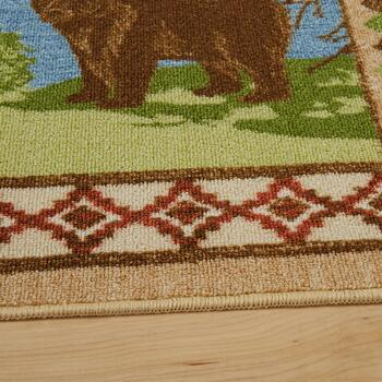 5'x7' Nature Scenes Hand-Hooked Area Rug view 2