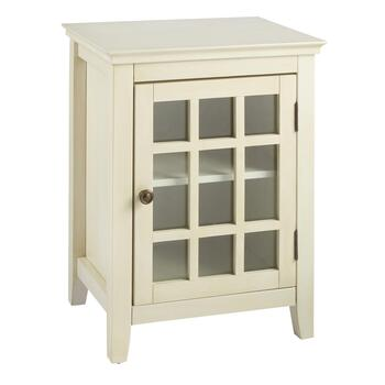 Largo Antique 1-Door Lattice Cabinet