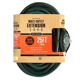 25' Grounded 3-Outlet Extension Cord