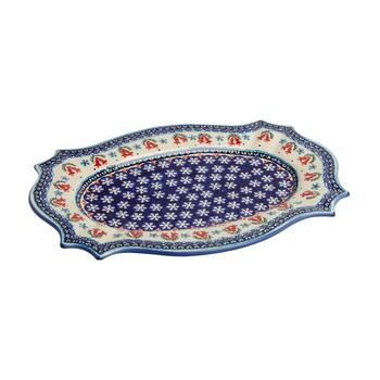 Polish Pottery Bells Turkey Serving Platter