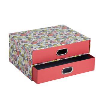 "13"" Floral Double Drawer Desk"