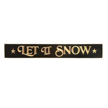 "24"" ""Let It Snow"" Wood Wall Sign"