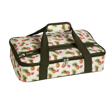 """10 75""""x16"""" Small Pineapples Insulated Casserole Carrier"""