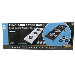 2-in-1 Black & White 3-Hole Toss Game view 1