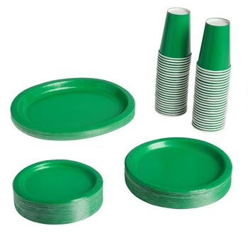 Onique® Green Paper Goods Disposable Dinnerware Set