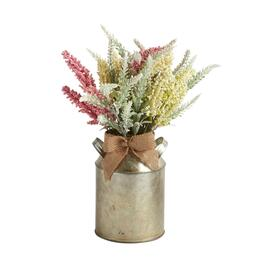 The Grainhouse™ Pink/Ivory Artificial Plant in Metal Pot