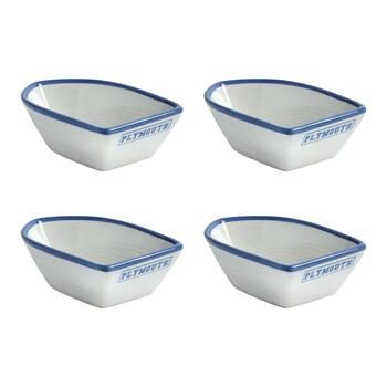 "Coastal Living Seascapes™ ""Plymouth"" Small Boat Bowls, Set of 4"