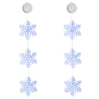 3-Snowflake Color-Changing LED Lights, Set of 2
