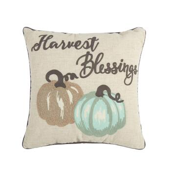 """Harvest Blessings"" Square Throw Pillow"