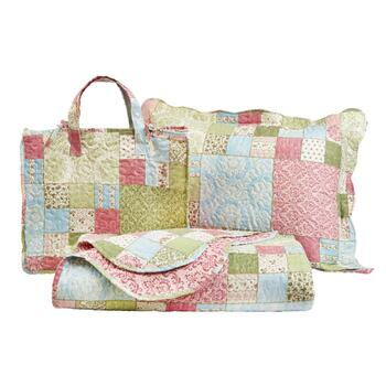 Patterned Patchwork Quilt Mini Set with Tote