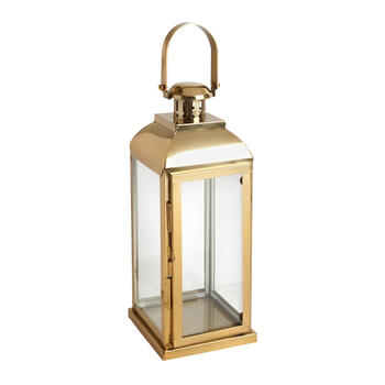 "18"" Brass Lantern with Handle view 1"