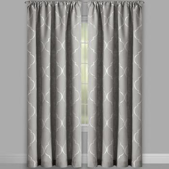 "84"" Lexi Ogee Embroidered Window Curtains, Set of 2 view 2"