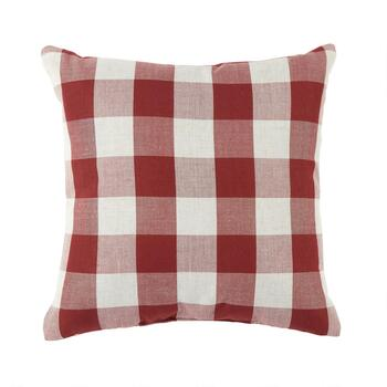 Buffalo Check Buttoned Square Throw Pillow view 2