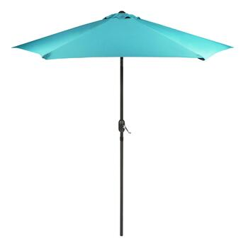 9' Teal Crank/Tilt Market Umbrella