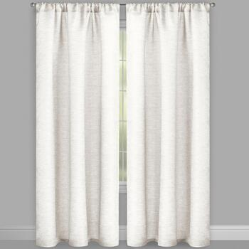 "84"" Bombay™ Textured Rod Pocket Window Curtains, Set of 2 view 2"