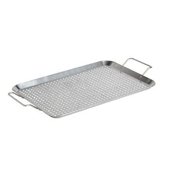 "12""x21.25"" Barbecue Grill Topper Pan"