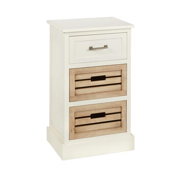 Alden White 1-Drawer/2-Bin Shutter Storage Cabinet view 1