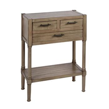 "30.75"" 3-Drawer Plank Top Console Table"