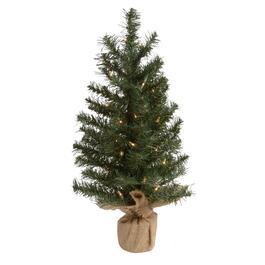 2 burlap tabletop tree with 35 lights - Christmas Tree Shop Pembroke