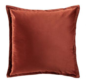 Solid Flange Square Throw Pillow