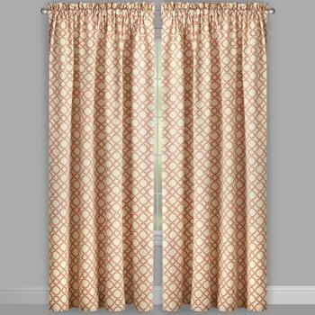 "Traditions by Waverly® 84"" Clay Geo Window Curtains, Set of 2 view 2"