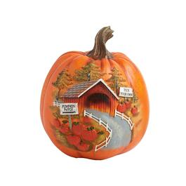 "9"" ""Pick Your Own"" Etched and Painted Pumpkin Decor"