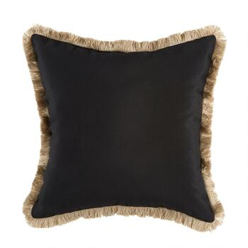 "18.5"" Palm Leaves Fringed Square Indoor/Outdoor Throw Pillow view 2"