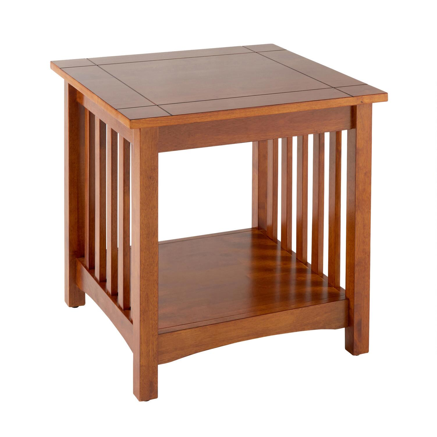 Mission Style Wood End Table