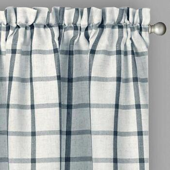 Willow Branch™ Farmhouse Box Plaid Window Curtains, Set of 2