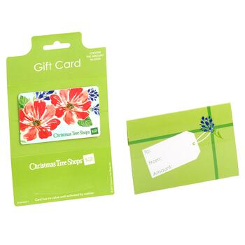 Red Floral Blooms Gift Card - $5 - $100