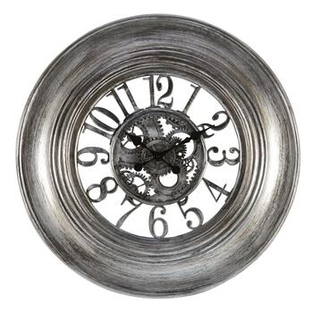 "30"" Champagne/Pewter Exposed Gears Wall Clock"