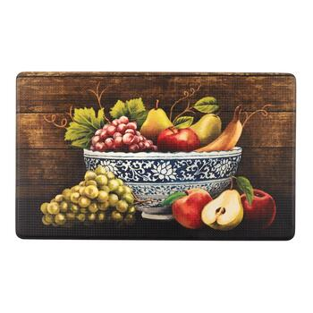 "18""x30"" Fruit Bowl Cushioned Kitchen Mat"
