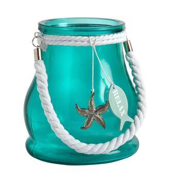 "Green/White ""Relax"" Tealight Candle Lantern"