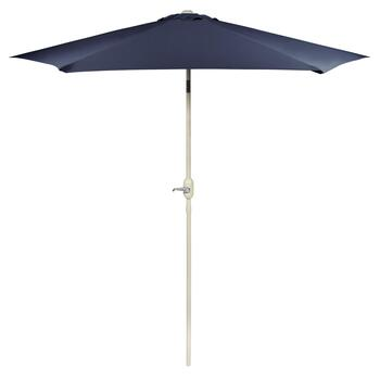 9' Navy Blue Crank/Tilt Market Umbrella