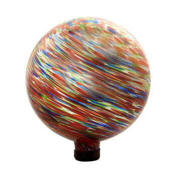 "12"" Multicolor Glass Gazing Ball view 1"