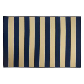 "6'6""x9'6"" Navy/Ivory Cabana All-Weather Area Rug"
