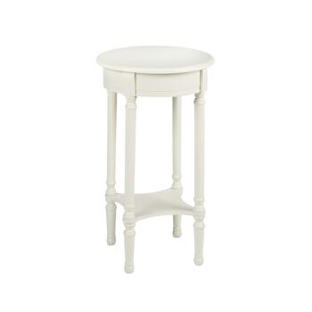 "15.75"" Ivory Round Accent Table"