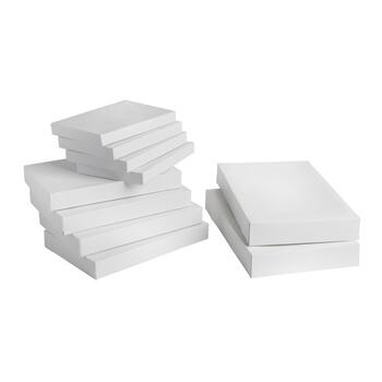 White Assorted Size Gift Boxes, Set of 20